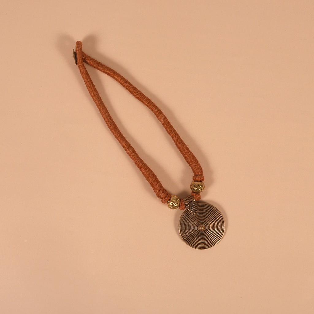 Handcrafted Dokra Neckpiece - Brown