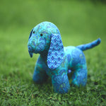 Ginger the Puppy - Recycled Fabric Toy (Blue)
