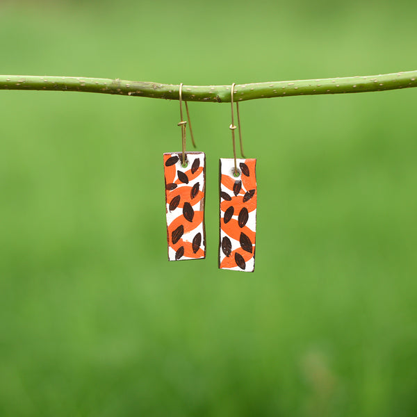 Hand painted Clay Earrings