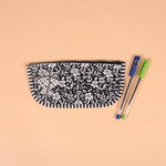 Handcrafted Black and White Pouch
