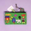 Handcrafted Applique Work Pouch - Village Life