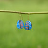 Hand painted Clay Earrings - Fern