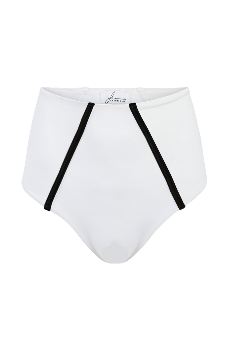 The High Waist Bottoms | White + Black
