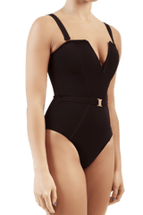 Victory black one piece shaping swimsuit
