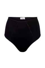 Allure black high waist bikini bottoms