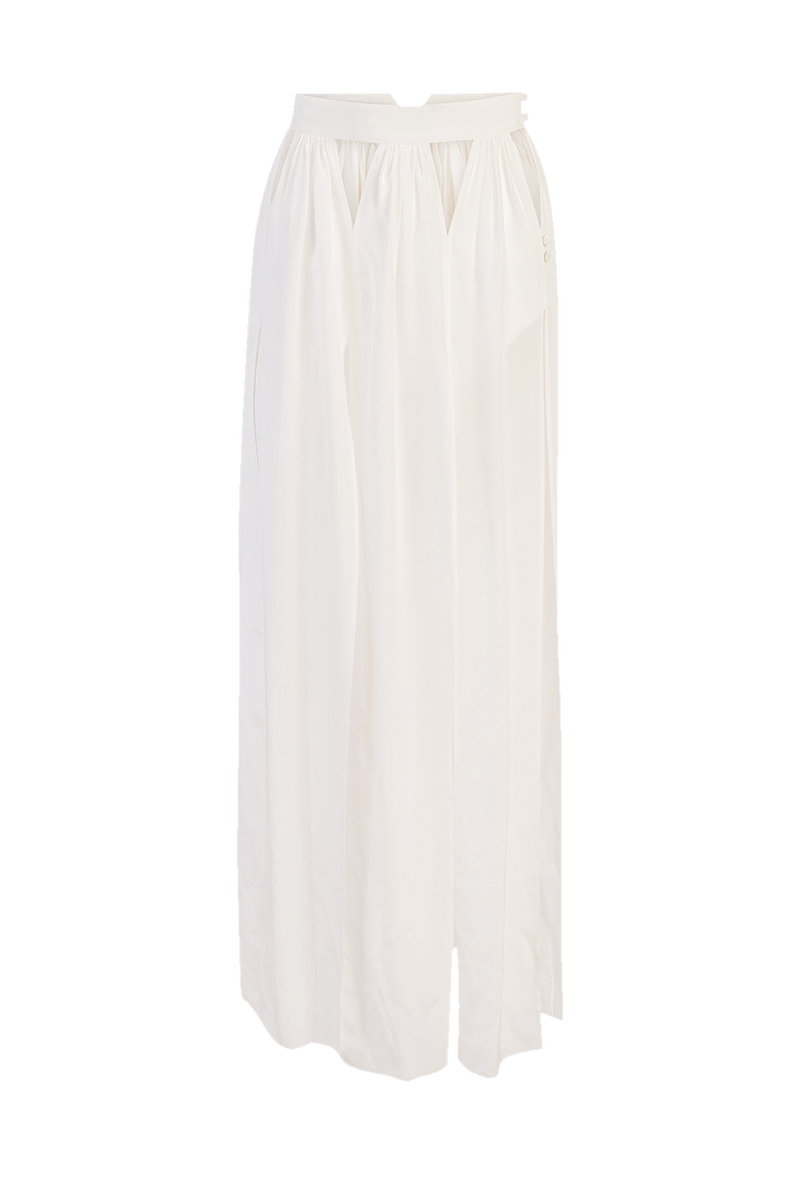 White silk coverup skirt
