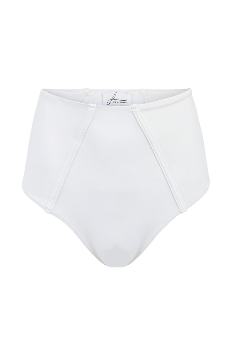 Allure white high waist bikini bottoms