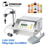 ZONESUN 5-3500ml Water Softdrink Liquid Filling Machine Digital Control GFK160 Water Oil Perfume Milk Small Bottle Filler