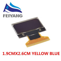 "4pin 7pin White/Blue/Yellow Blue color 0.96 inch 128X64  OLED Display Module For Arduino 0.96"" IIC I2C SPI Communicate"
