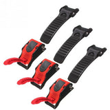 3Pcs/lot Adjustable 9 Gear Motorcycle Bike ATV Helmet Chin Strap Speed Sewing Clip Quick Release Buckle
