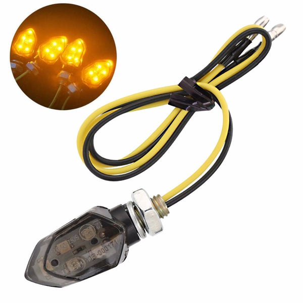 2Pcs/Lot Universal Motorcycle Turn Signal Indicator Light Bulb Amber for Honda Kawasaki Suzuki Yamaha Flasher Lamp