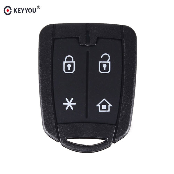 KEYYOU 20pcs/lot New Repalce Car Key Case Shell For Brazil Positron Alarm 4 Button Remote Key Cover Shell Auto Parts