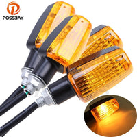 POSSBAY 4Pcs/Lot Motorcycle Turn Signal Indicator Light Bulb Amber Light for Honda Kawasaki Suzuki Yamaha Flasher Lamp Light