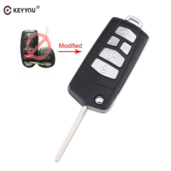 KEYYOU 10PCS/LOT 5 Buttons Modified Flip Remote Key Case Shell For Kia Sedona Mini Van Car Key Cover Case