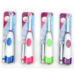 1 Set Electric Toothbrush With 2 Brush Heads Battery Operated Oral Hygiene No Rechargeable Teeth Brush For Children