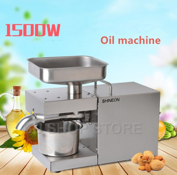 110V/220V automatic cold press oil machine, oil cold press machine, sunflower seeds oil extractor, oil press 1500W