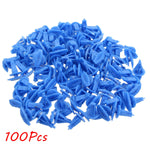 100Pcs/lot Car Universal Auto Fasteners Weatherstrip Retainer Blue Plastic Clips