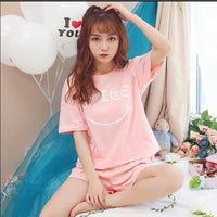 2019 Newset WAVMIT Pajamas Set for Women Summer Short Sleeve Cartoon Cute Sleepwear Girl Pijamas Mujer Nightgown Women Gift