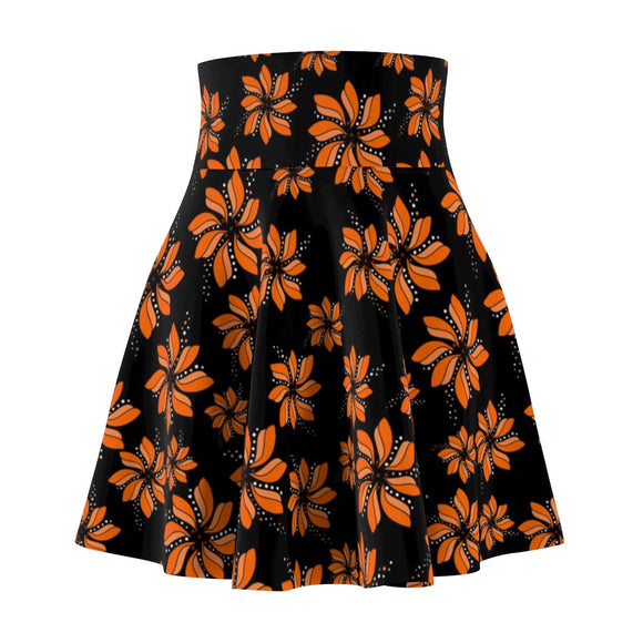 Women's Skater Skirt Flower Field