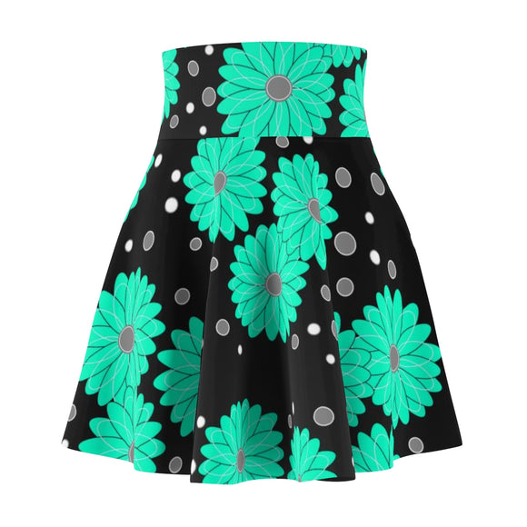 Women's Skater Skirt Flower Mint