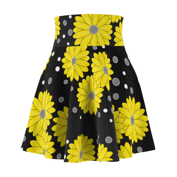 Women's Skater Skirt Flower Yellow
