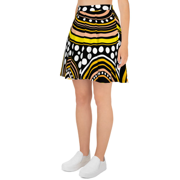 Skater Skirt Mandala Yellow