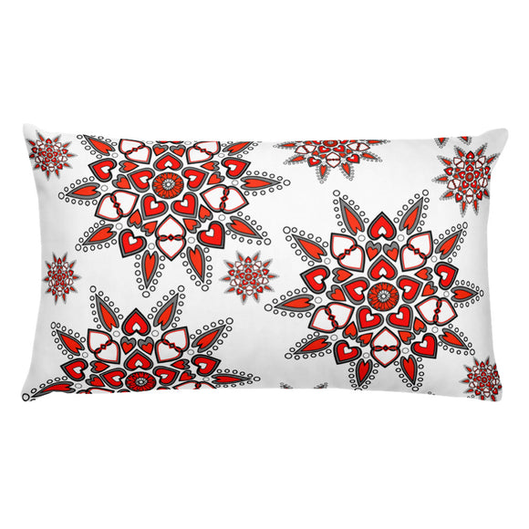 Pillow Snowheart white