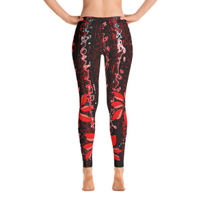 Leggings Flower in Red