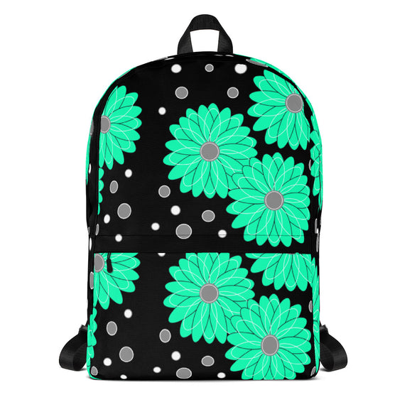 Backpack Mint Flower