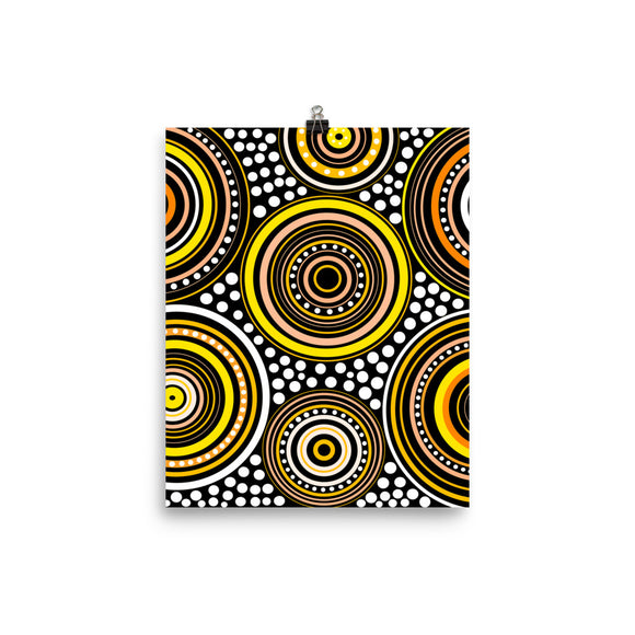 Poster Mandala yellow