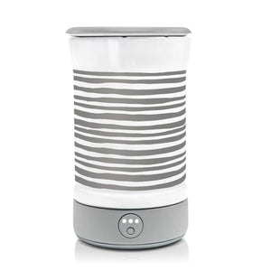 Wax Warmer Gray Stripe Ceramic