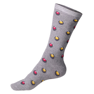 Goldline Designer Curling Socks Grey with Rocks