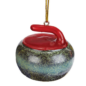 Curling Rock Tree Ornament