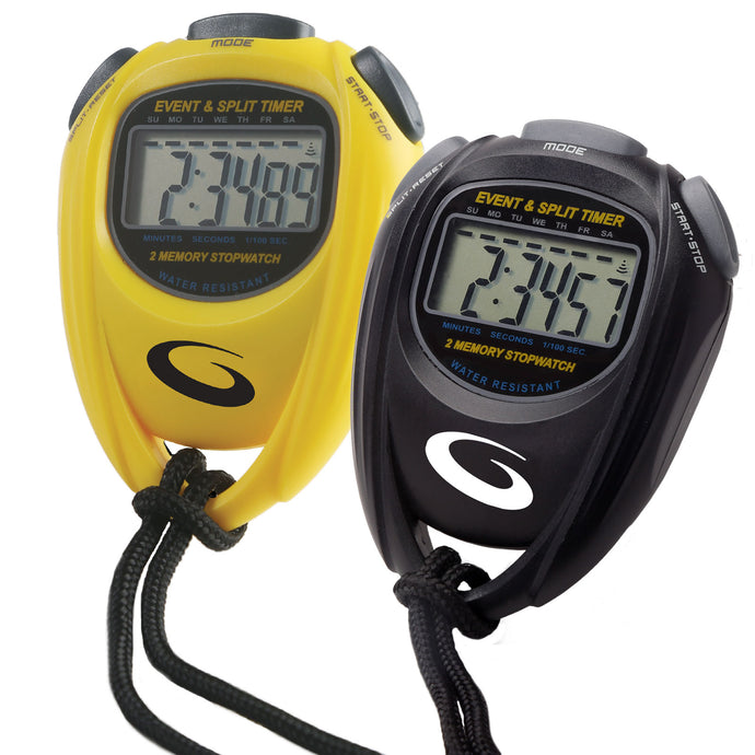 Goldline stopwatch black and yellow