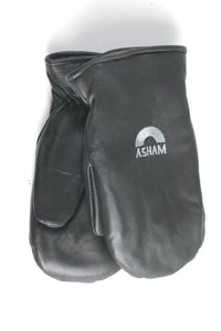 Asham Lambskin Leather Mitts
