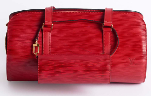 A Louis Vuitton Papillon in red Epi leather