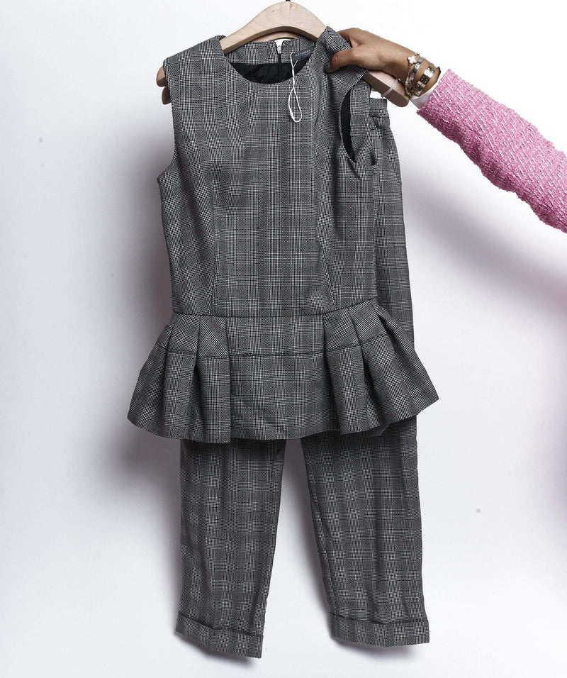 Alexander McQueen Alexander Mcqueen Grey Top and Pant Suit