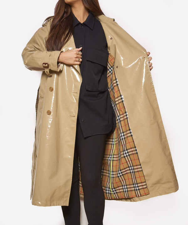 Burberry Burberry laminated Trench Coat