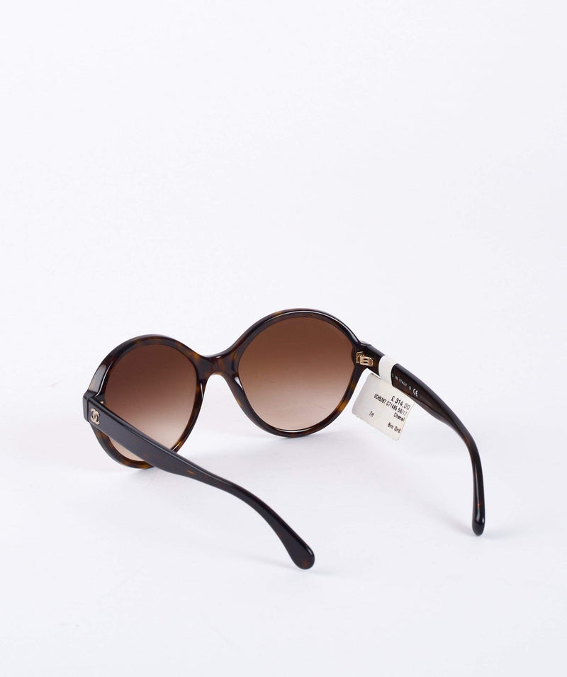 Chanel Chanel Brown Round Sunglasses