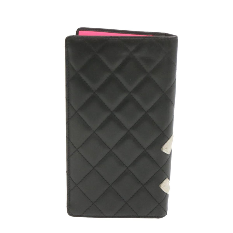 Chanel CHANEL Cambon Line Long Black Wallet