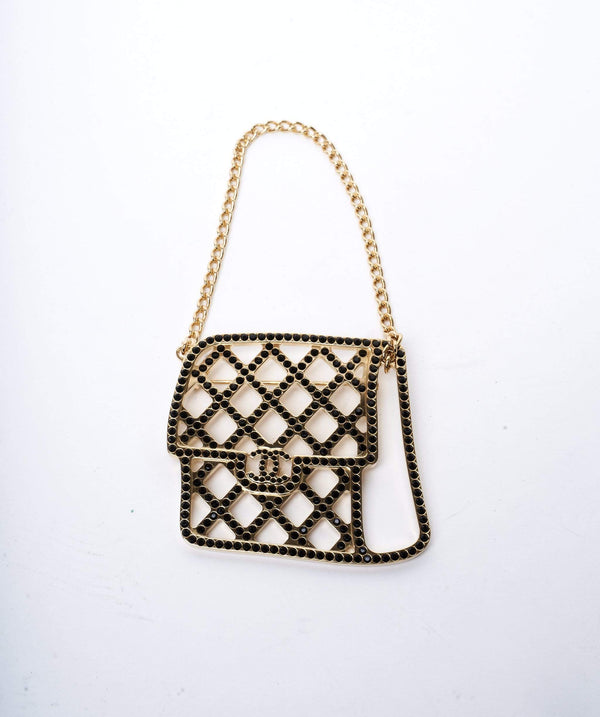 Chanel Chanel Classic Flap Bag Rhinestone Brooch