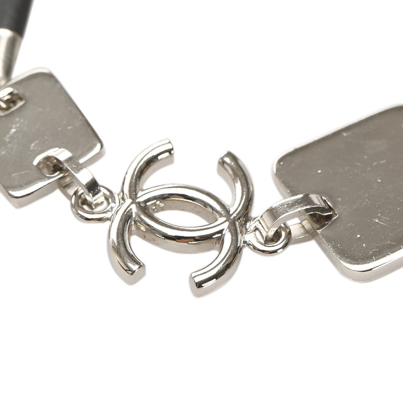 Chanel Chanel Silver CC and Square Motif Bracelet