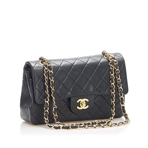 "Chanel Chanel 9"" Double Classic Flap Bag with Box AWL1229"