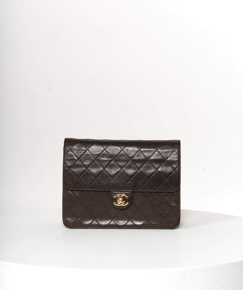 Chanel Chanel Vintage Dark Brown Quilted Vintage Flap Bag