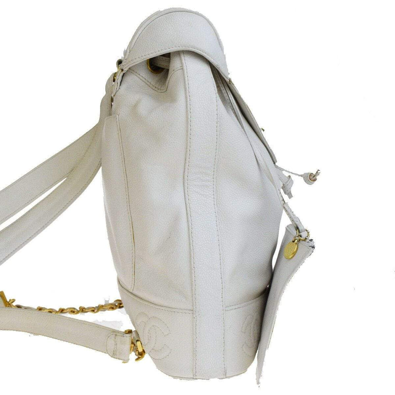 Chanel Chanel White Drawstring Backpack