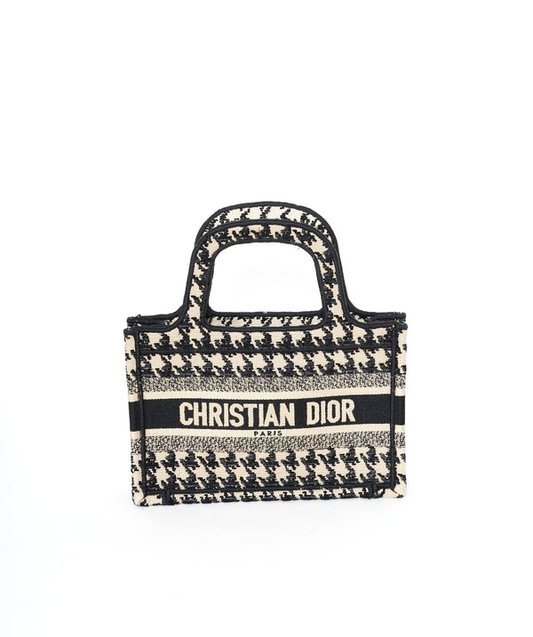 Chanel Dior Mini Houndstooth Book Tote