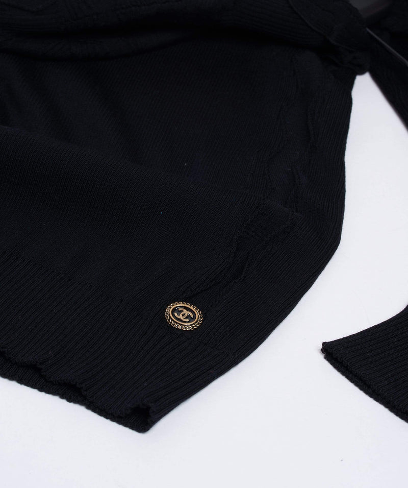 Chanel Chanel Black Knit Top