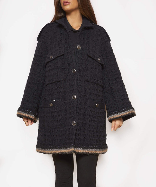 Chanel Chanel Knitted Cardi-coat EU 38