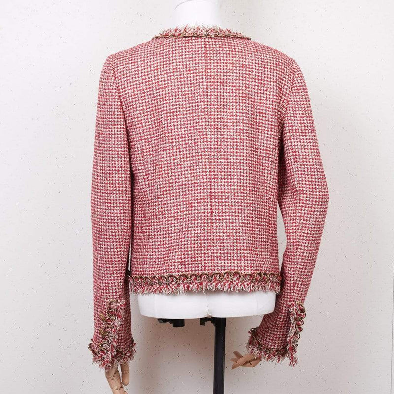 Chanel Chanel Red Tweed Jacket