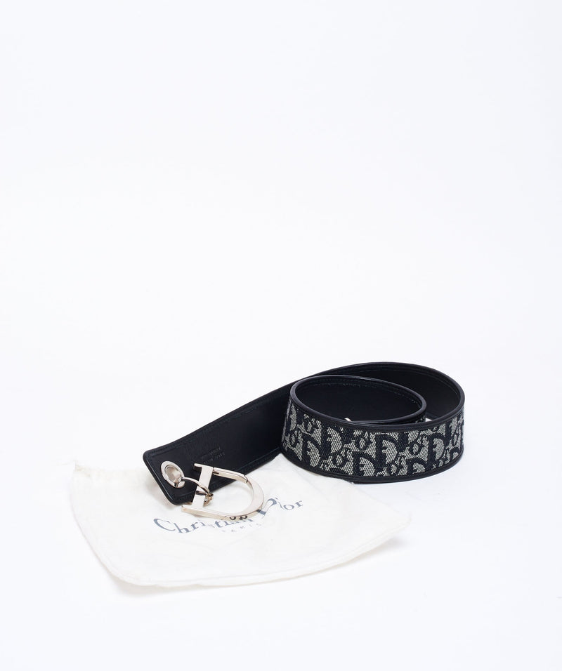Christian Dior Christian Dior denim logo belt